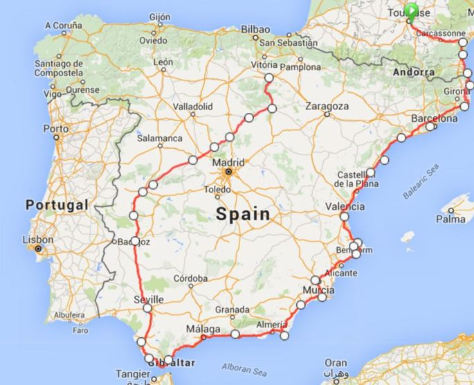 Map to Logrono
